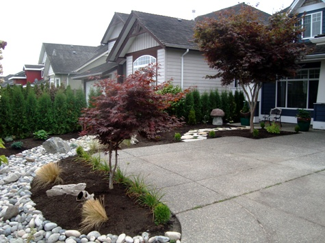 Before after landscape vancouver burnaby richmond for Landscaping rocks vancouver wa